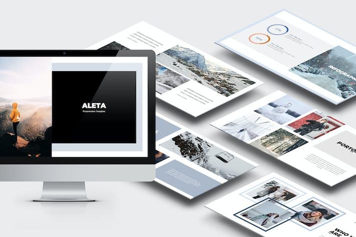 Thumbnail for Aleta : Winter Fashion Style Lookbook Keynote