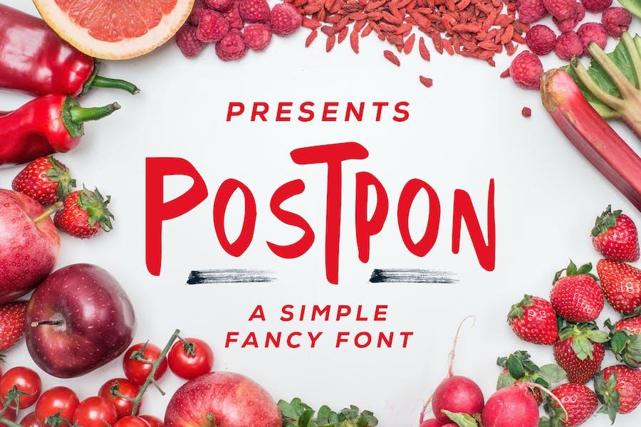 Postpon - Simple Fancy Font