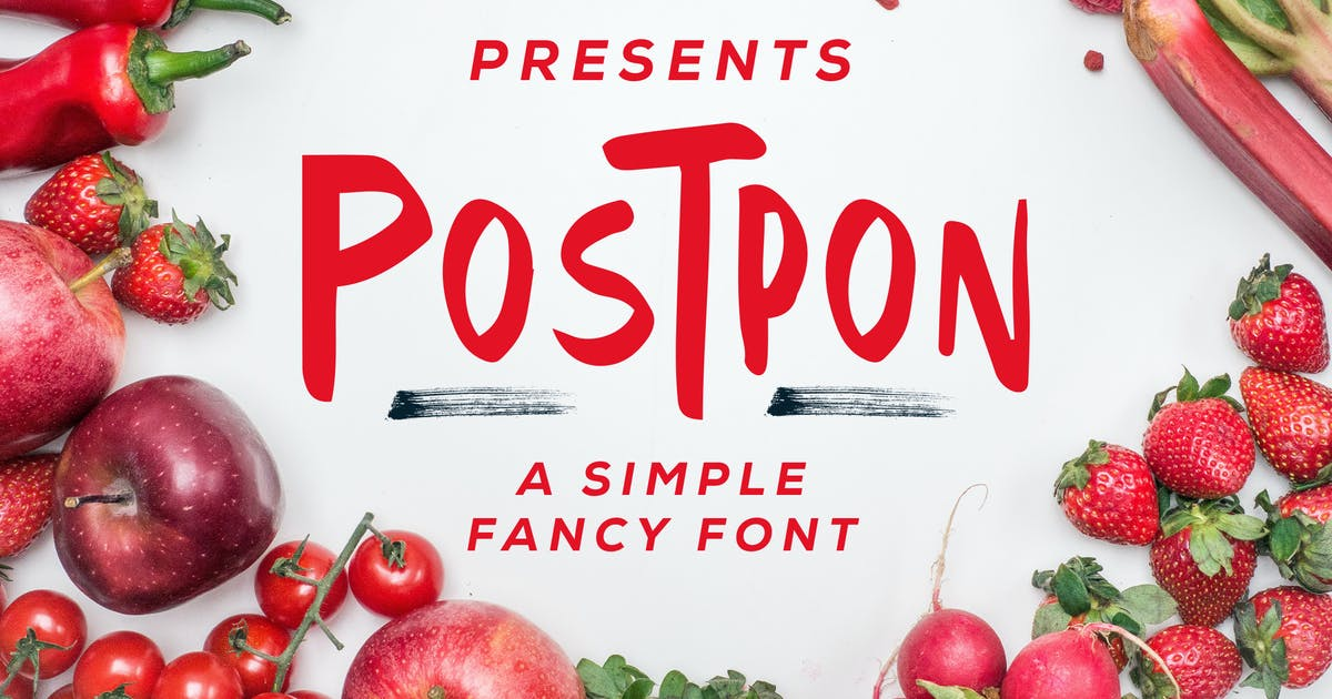Download Postpon - Simple Fancy Font by Macademia