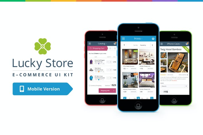 Thumbnail for Lucky Store UI Kit (Mobile)