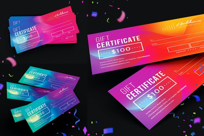 Thumbnail for Colorful Gift Certificate