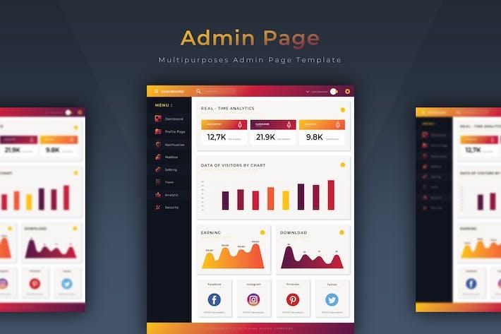Cleveres Dashboard | Admin-Vorlage