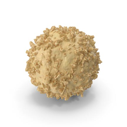White Chocolate Ball with Nuts