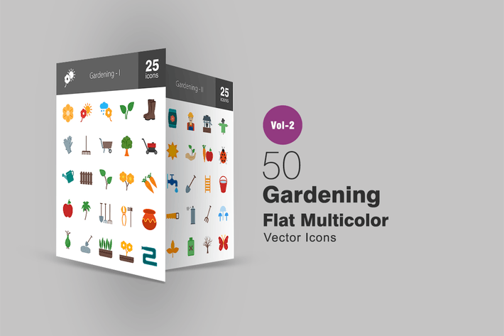 Thumbnail for 50 Gardening Flat Multicolor Icons