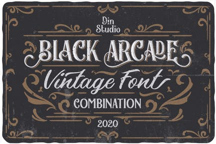 Pack de fuentes Black Arcade (combinación de fuentes vintage)