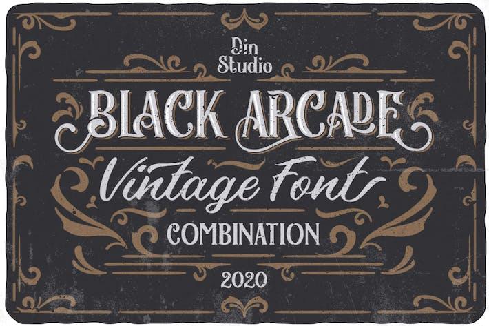 Thumbnail for Pack de polices Black Arcade (combinaison de polices vintage)