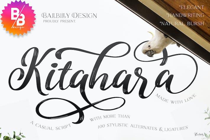 Thumbnail for Kitahara - Fuente de escritura casual