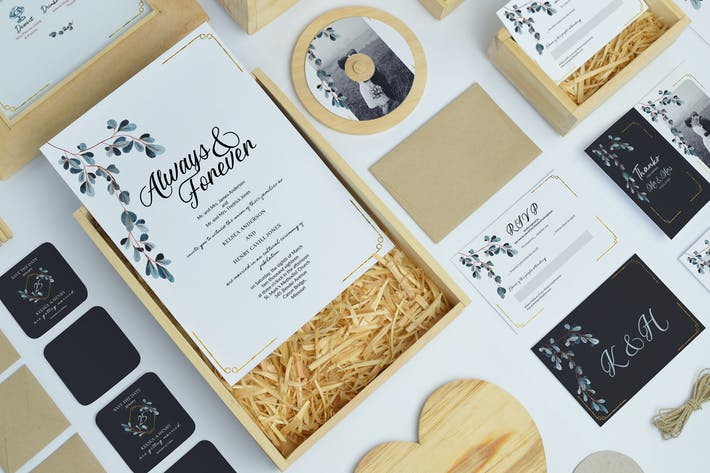 Subtle Wedding Invitation Suite
