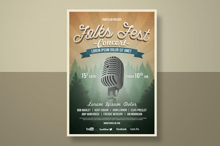 Thumbnail for Folk Fest Flyer