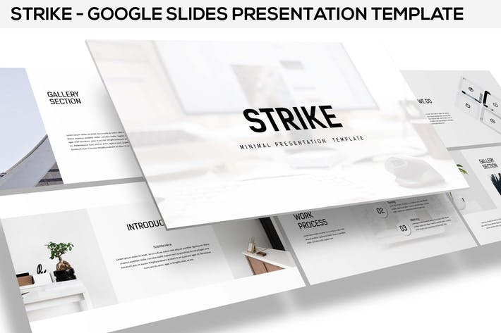 Thumbnail for Strike - Minimal Google Slides Template
