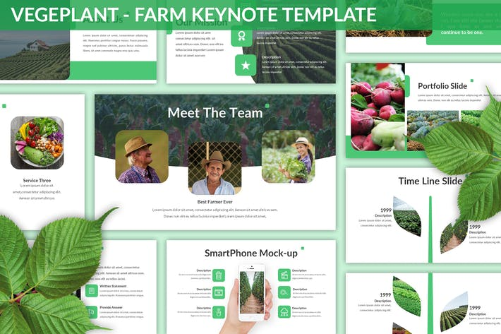 Thumbnail for Vegeplant - Farm Keynote Template