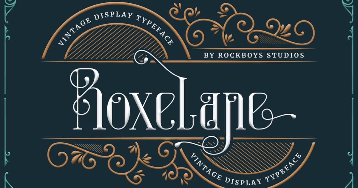 Download Roxelane - Vintage Display Font by RockboyStudio