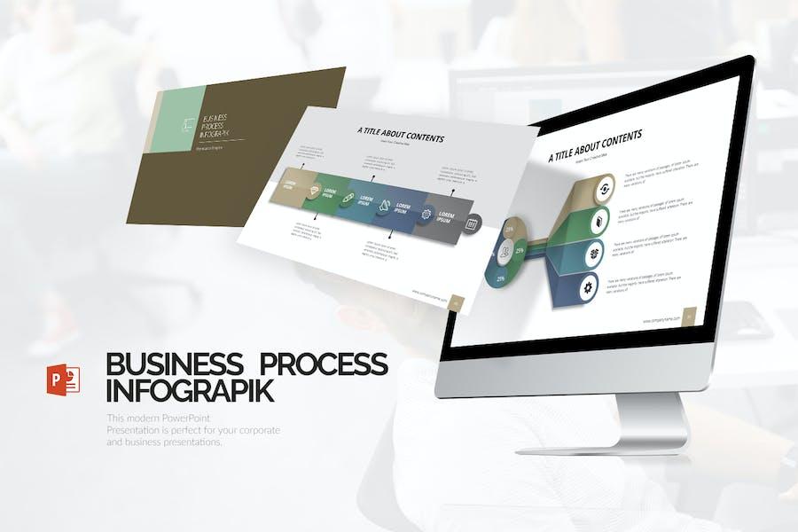 Инфографическая презентация процесса (PPTX)
