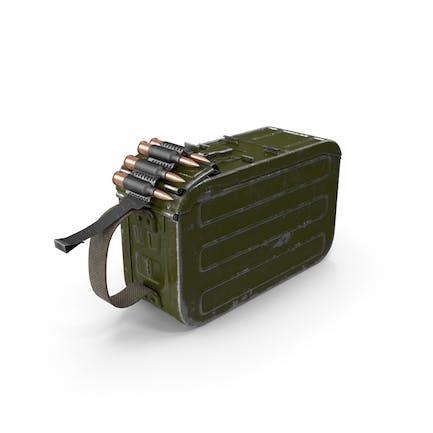 Caja de munición redonda de 100 Arma