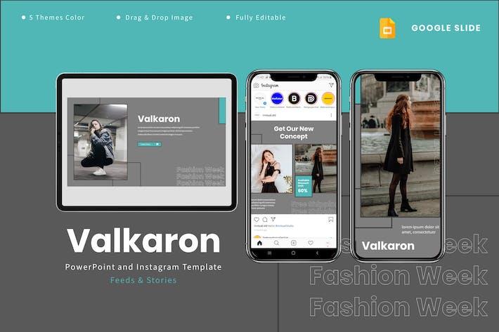 Valkaron - Шаблон Google Слайды и Instagram