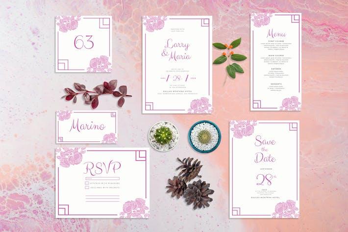 Rose Flower - Wedding Invitation