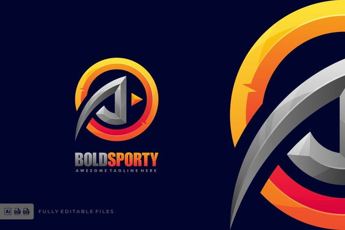 Thumbnail for Bold Letter Icon Sport and esports Logo Template