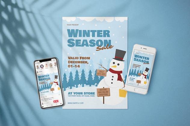 Snowman - Winter Sale Flyer Media Kit