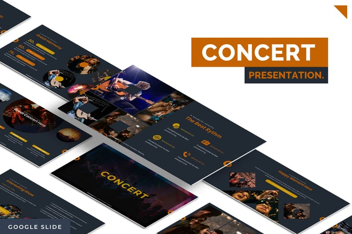 Thumbnail for Концерт - Шаблон слайдов Google