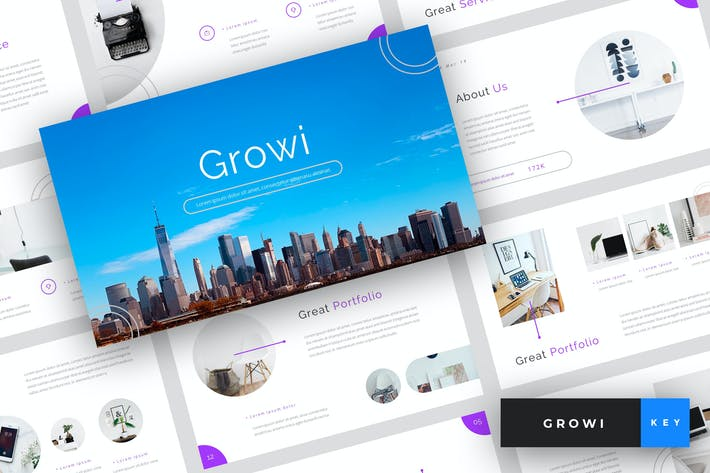 Thumbnail for Growi - Business Keynote Template