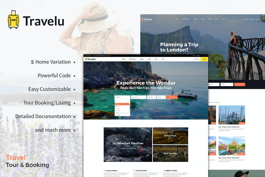 Travelu - Travel, Tour Booking Template