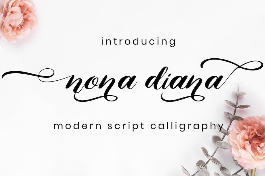 Nona Diana - Script Font