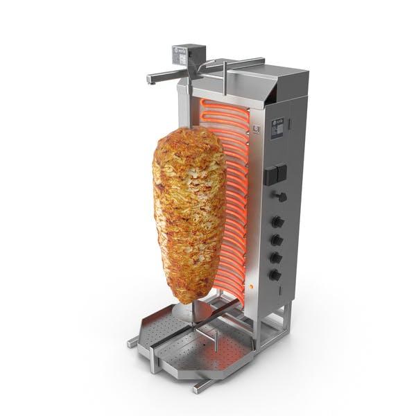 Potis Vertikal Rotisserie Grill mit Döner Kebab