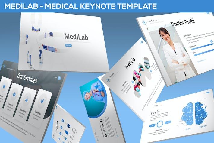 Thumbnail for MediLab - Medical Keynote Template