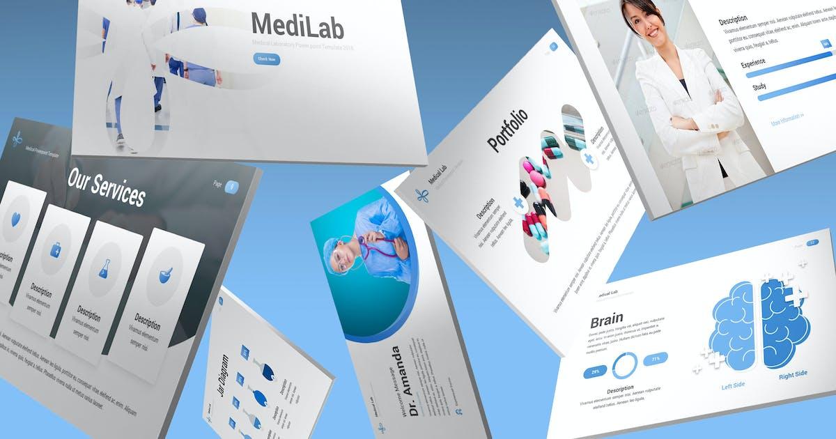 Download MediLab - Medical Keynote Template by SlideFactory