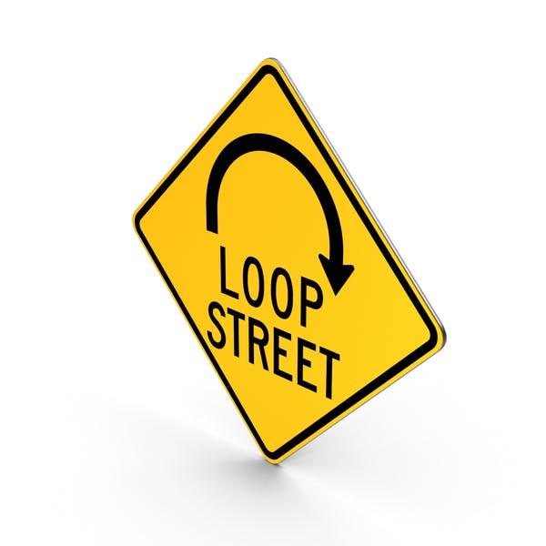 Loop-Straßen-Straßenschild