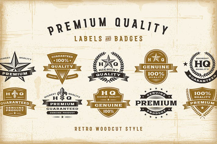 Thumbnail for Vintage Premium Quality Labels Set