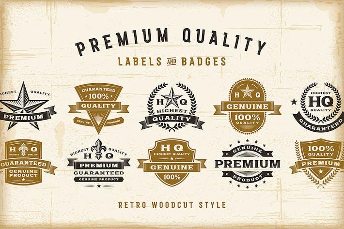 Thumbnail for Juego de etiquetas Vintage Calidad premium.