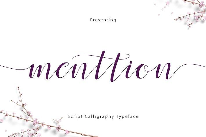 Thumbnail for Menttion Script