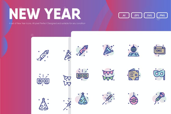 Thumbnail for New Year Icon Pack