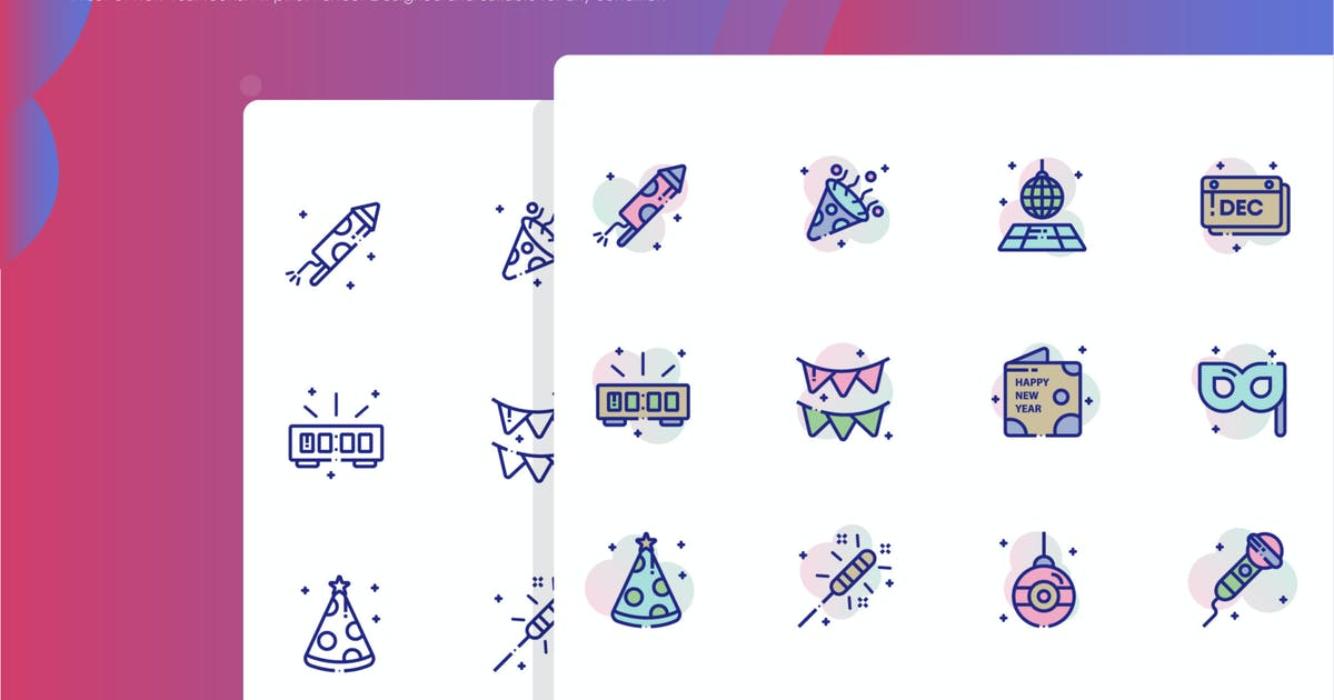 Download New Year Icon Pack by inspirasign
