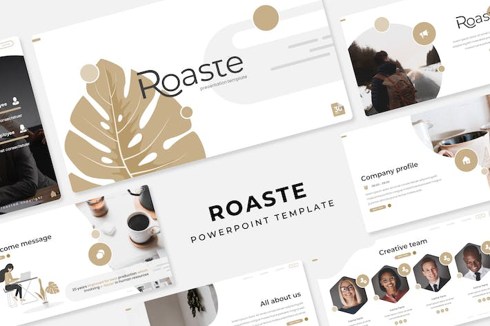 Thumbnail for Roaste - PowerPoint Template