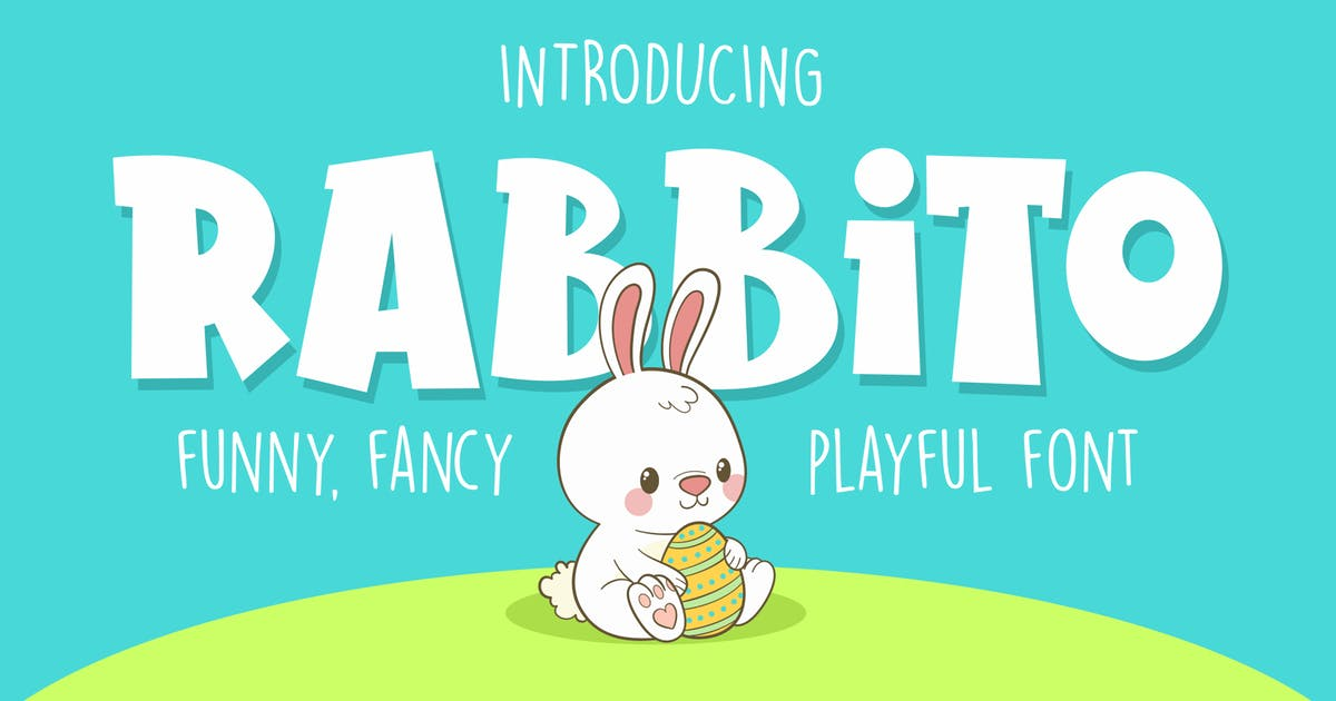 Download Rabbito - Font for Kids by deemakdaksinas