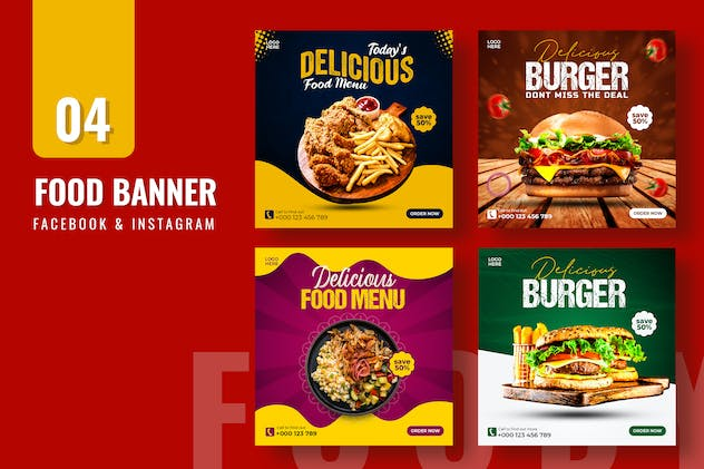 Food Promo Banner Template