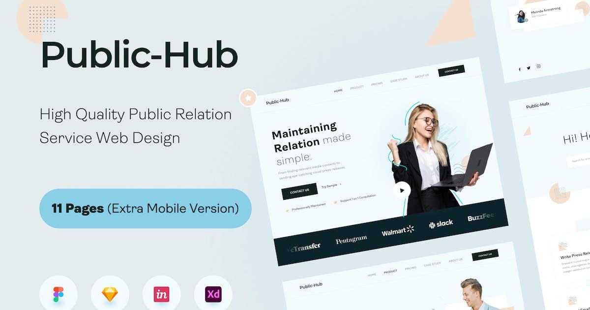 Download Public-Hub Landing Page UI KIT by noansatudio