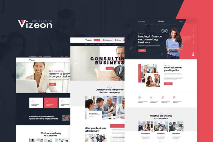 Thumbnail for Vizeon - Business Consulting PSD Template