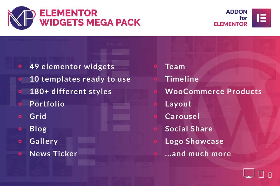 Elementor Widgets Mega Pack - Addons for Elementor