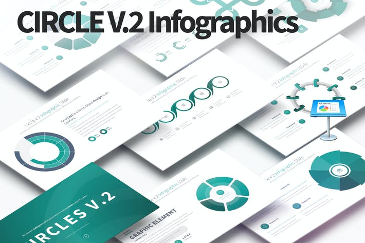 Thumbnail for CIRCLES V.2 - Keynote Infographics Slides