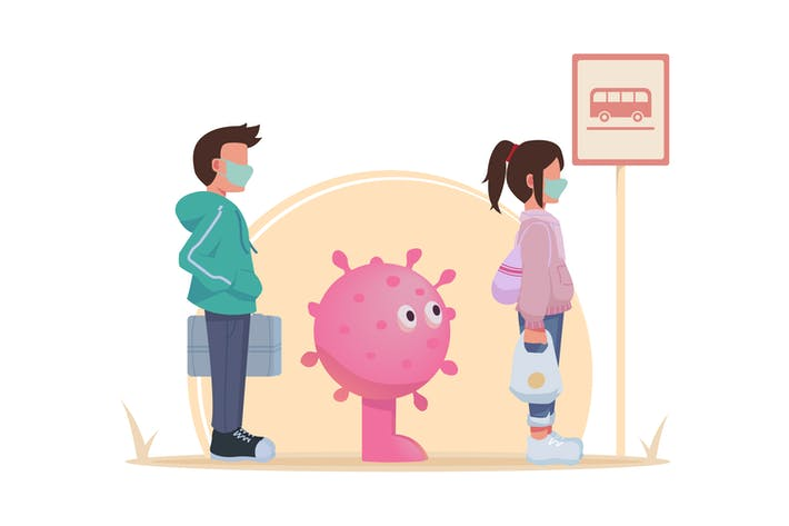 Thumbnail for Soziale Distanzierung Warteschlange Coronavirus vermeiden