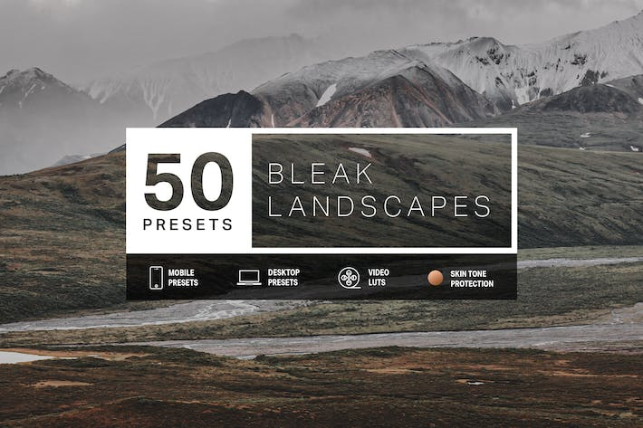 Thumbnail for 50 Bleak Lightroom Presets and LUTs