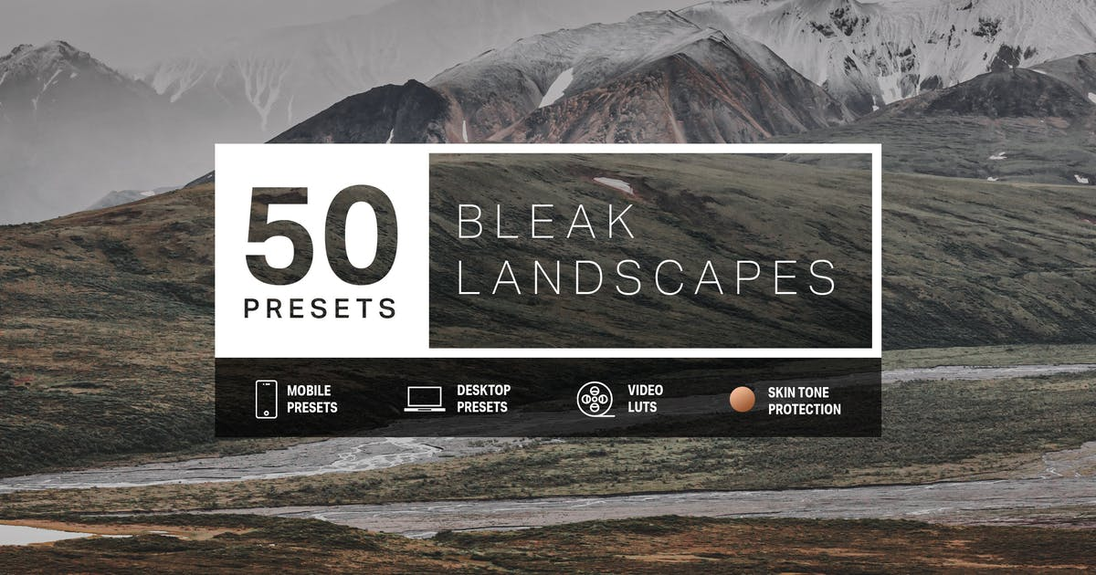 Download 50 Bleak Lightroom Presets and LUTs by sparklestock