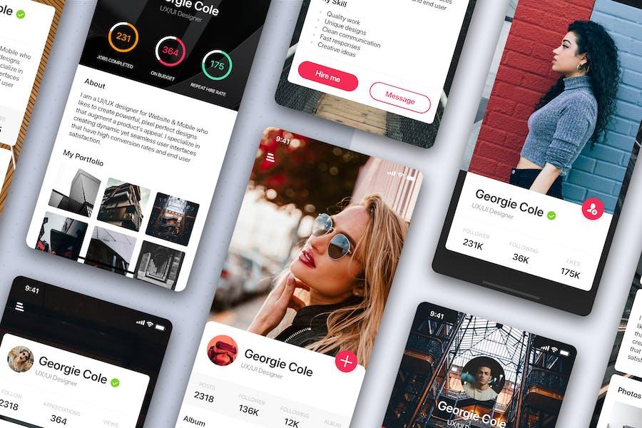 Profile Mobile UI Kit