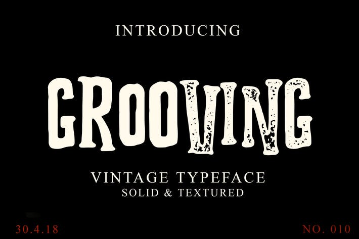 Thumbnail for Grooving Vintage Font