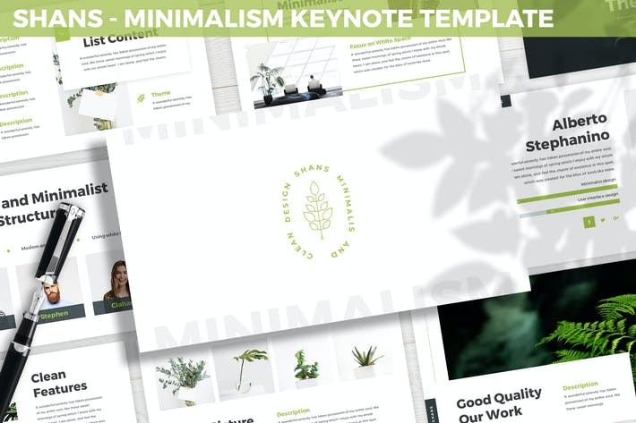 Thumbnail for Шаны - Шаблон Keynote минимализма