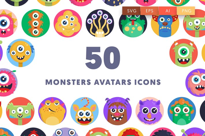 Thumbnail for Monsters Avatars Icons