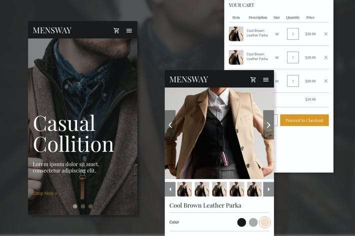 Thumbnail for Mensway - Online Fashion Store Web (Mobile)